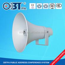 OBT PA waterproof 50w loudspeaker, aluminum 100v high power horn speaker for stadium, playground, railway