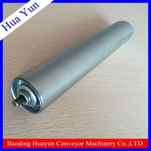 50mm diameter galvanized steel tube gravity conveyor idler for airport luggage handling