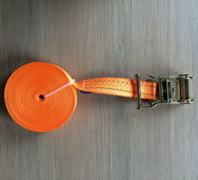 5T high tesile force woven PET strap with hook, 2'' ratchet tie down for container