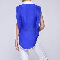 Popular low price blouse front neck design