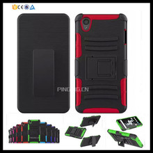 3 in 1 heavy duty belt clip holster case for oneplus x ,hybrid armor kickstand case for one plus x