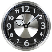 """12"""" high quality home goods decorative metal round wall hanging time clock"""