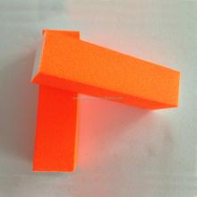 Orange color 4 sides coarse grit nails filer block and buffer
