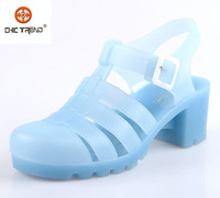 2015 comfortable women melissa sandal cut out heels PVC jelly shoes waterproof classical plastic footwear roman shoes for lady