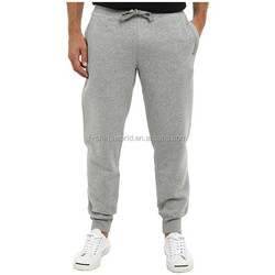 China maufacturer mens plain drawstring sweat pants for wholesale