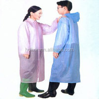 Promotional Disposable Raincoat, Adult Pocket Raincoat for South Korea