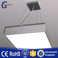 Pure/daylight/warm ceiling-mounted suspension square led panel light