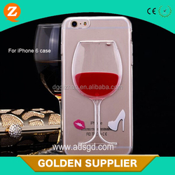 guangdong red wine glass bottle plastic injection 3d mobile phone cover