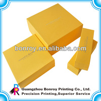 Yellow simple elegant gift boxes for packaging