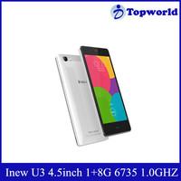 Original 4G LTE Smartphone 4.5inch Android 5.1 MTK6735 Quad Core Dual Sim 1GB RAM 8GB ROM iNew U3 Mobile Phone