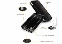 2015 hot sale 3500mah solar for iphone battery case, cover case with solar power bank ,for ourtdoor charging