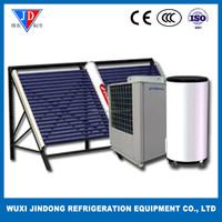 heating pump+solar energy central heating system flooring heating and hot water