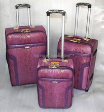 hot sale purple trolley bags/woman luggage travel bags