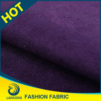 Factory price Clothing Material Elastane suede wallpaper fabric