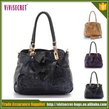 2014 new model purses and ladies pu handbags shoulder bag wallet set