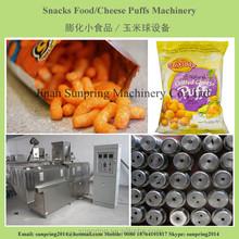Puffed corn wheat snacks food extruder/machines