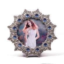 Sixy marco foto de la niña de san valentín plateado marco de fotos marco de fotos