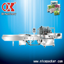 hot sale wrapping hemming sealing 3D easily sizes change step-less frequency conversion facial tissue packing machine OK-602