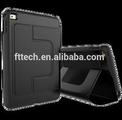 Hybrid Heavy Duty Armor Hard Shockproof Kickstand Tablet Leather Case For iPad mini 4, Smart Shockproof Tablet Case for iPad min