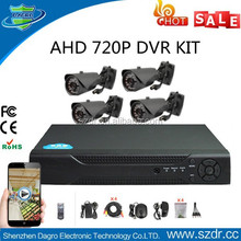 Hot New CCTV 720P Full HD 4CH AHD DVR Kit Security System Support View Video Online