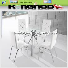 Muebles de comedor Inicio; juego de comedor de vidrio