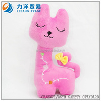 Plush cat for kids(pink), Customised toys,CE/ASTM safety stardard