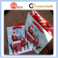Hot sale Custom printed Christmas packing paper bag
