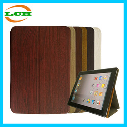 High quality ultra thin wood grain smart sleeping pu leather case for ipad mini 1 2 3 4