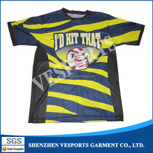 High quality sublimation full color custom printing t shirt
