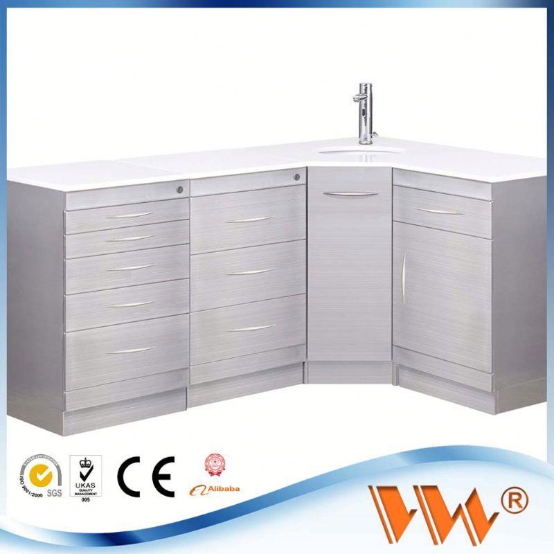 Dental Furniture Sliding Door Cabinet Steel Filing Cabinet
