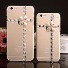 for apple iphone 6 6 plus Flower Design Luxury Bling Bling Crystal Rhinestone Cell Phone Cover