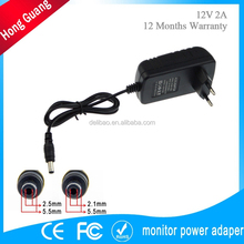 dc output type ac power adapter charger plug in connection