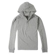 100% algodão barato homens casaco de lã com moletom com capuz brasão em ações