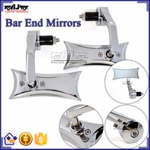 BJ-RM400-04 Motorcycle Accessory Wholesale Chrome CNC Billet Aluminum Handle Bar End Side Mirror Motorcycle for Harley