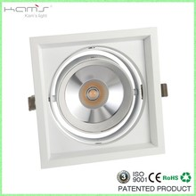 one head square downlight/cob grille light