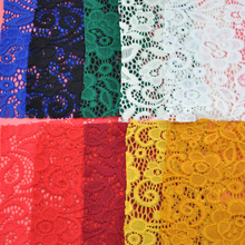 Fashion embroidery designs wedding dress big swiss voile fabric lace material for clothing