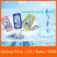 2015 New Design Waterproof Full-body Protect PC+Silicone Hybrid Material Case for iPhone 6 4.7''