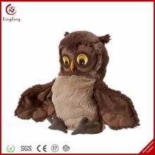 Lovely plush owl toy spread its wings stuffed owl doll soft cartoon animal throw pillow