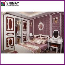 Versailles mobília do quarto da série- zunxiang: roupeiro, cama, dresser, estante de livros