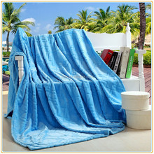 Bedding Extra Soft Flannel Fleece Blanket Lightweight Thickening Throw/Bed Blanket Pure Color Blanket Sky Blue