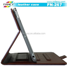 genuine leather wallet case, flip leather case for Ipad air, tablet PC leather case cover
