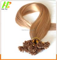 Most popular full culticle 40cm 50cm 60cm 1g/strand 100% Brazilian remy u tip/I tip keratin human hair extension