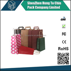 Packing Factory Custom printed Craft Paper shopping Bag , paper bread bags