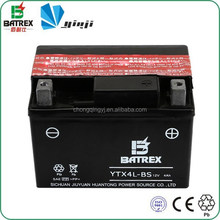 Jialing 50cc Motorcycle 12V 4Ah YTX4L-BS Motorcycle Battery With Acid Pack