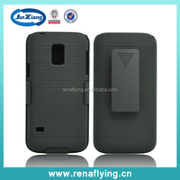 black plastic belt clip combo holster case for samsung galaxy s5 mini