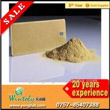Decorative metallic gold powder coating paint