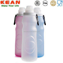Collapsible siliocne sport drink bottle water filter water bottle