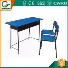 Wood Double Student Desk and Chair School Furniture For Education