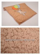 kids elegant Cartoon animal embroidered coral fleece baby & infant blanket