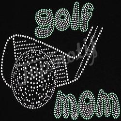 Bling Golf MOM DMC rhinestones Transfer Crystal Transfers